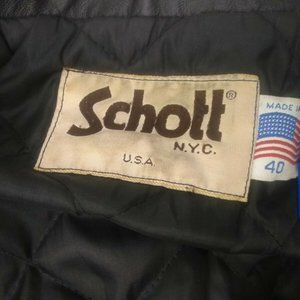 Schott NYC Jackets & Coats - Schott NYC Men sz 40 Vintage Quilt Lined Black Lea